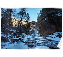 frozen canyon Poster
