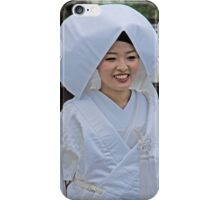White Wedding Kimono iPhone Case/Skin