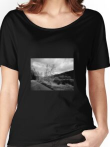 Black and white Landscape Women's Relaxed Fit T-Shirt