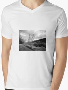 Black and white Landscape Mens V-Neck T-Shirt