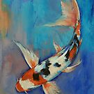 Sanke Butterfly Koi by Michael Creese
