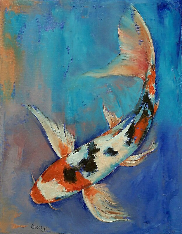 Sanke butterfly koi by michael creese redbubble for Sanke koi fish