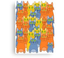 Thirty-One Kitty Cats Canvas Print