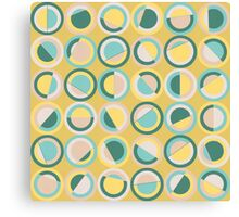 Abstract Pastel Circles Canvas Print