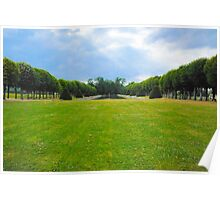 Chateau garden Poster