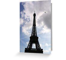 Eiffel Tower with bird Greeting Card