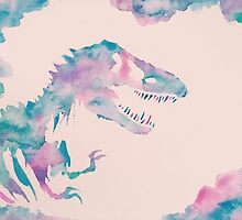 Cool Watercolors Jurassic  by PeonyPaints