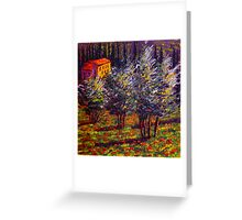 Tuscany Poppies in the Olive Grove Greeting Card