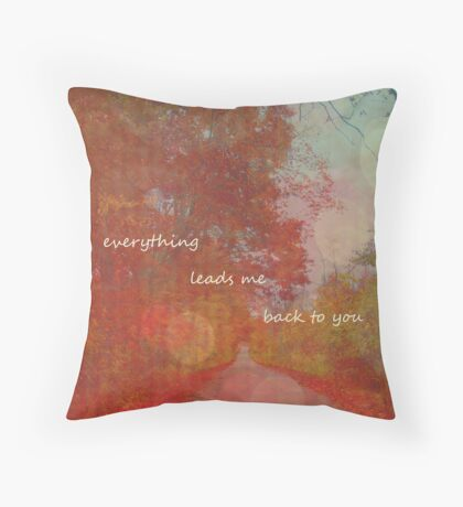 just when i think i'm lost i realize... Throw Pillow