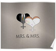 Mrs. Dress and Tux Hearts Tie Poster