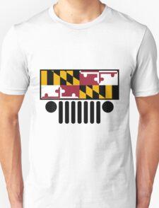 Jeep Wrangler Maryland Flag T-Shirt