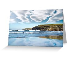 reflection of cliffs and clouds Greeting Card