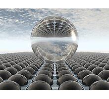Black Chrome Diamond Sphere Photographic Print