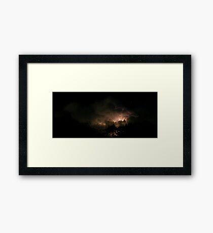 Lord of the Rings lightning 2 Framed Print