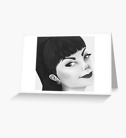 Pin Up Girl Greeting Card