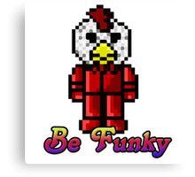 Funky chicken Canvas Print