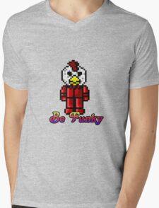 Funky chicken Mens V-Neck T-Shirt