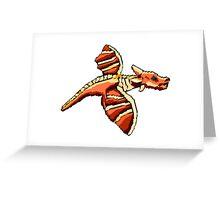 Rough Pixel Dragon Greeting Card