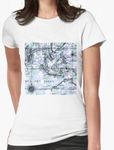 The old Map Womens Fitted T-Shirt
