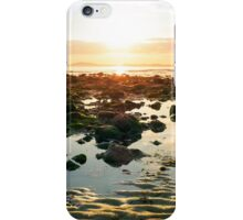 serene reflections at rocky beal beach iPhone Case/Skin