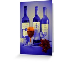 Cheese and Wine: A Colourful Evening Greeting Card