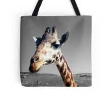 Sticking her neck out Tote Bag