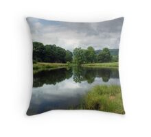 River Brathay in Summer Throw Pillow