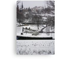 Winter Edinburgh: Ramsay Gardens Canvas Print