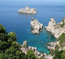 Blue Waters off Paleokoastritsa, Corfu by Laurel Talabere