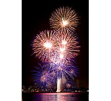 The First Bang - Sydney Harbour - New Years Eve - Midnight Fireworks Photographic Print