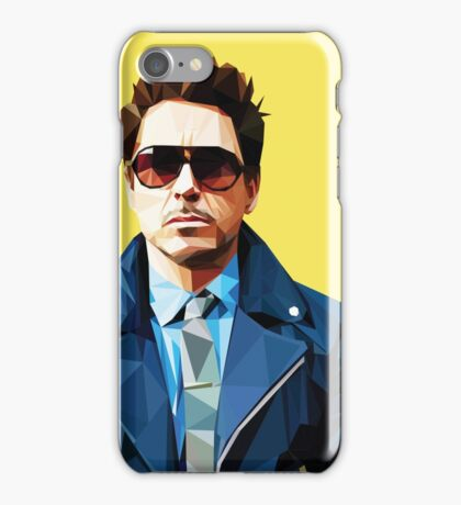 Robert Downey Jr - Low Poly Vector iPhone Case/Skin