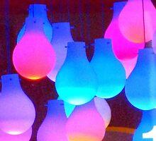 colorful lightbulbs by Michaela Mendez
