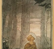 Siegfried & The Twilight of the Gods by Richard Wagner art Arthur Rackham 1911 0293 Flee, Oh, Flee From the Curse by wetdryvac