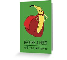 Super Banana Greeting Card