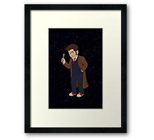 Tenth Doctor (Blue Suit) Framed Print
