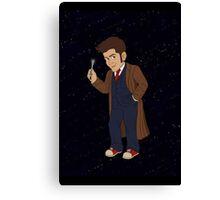 Tenth Doctor (Blue Suit) Canvas Print