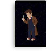 Tenth Doctor (Blue Suit) Canvas Print