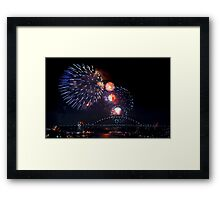 New Years Eve - Sydney 9pm Framed Print