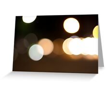 Light bubbles Greeting Card