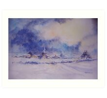 Under a Wintry Sky Art Print