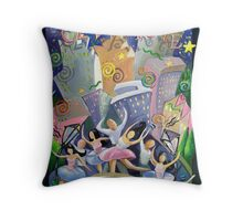 Celebrate...City at Night Throw Pillow