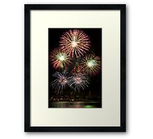 High Five - Sydney Harbour - New Years Eve - Midnight Fireworks  Framed Print