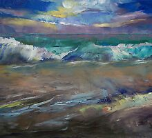 Moonlit Waves by Michael Creese