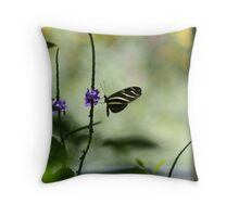 Butterfly in The Pavilion Throw Pillow