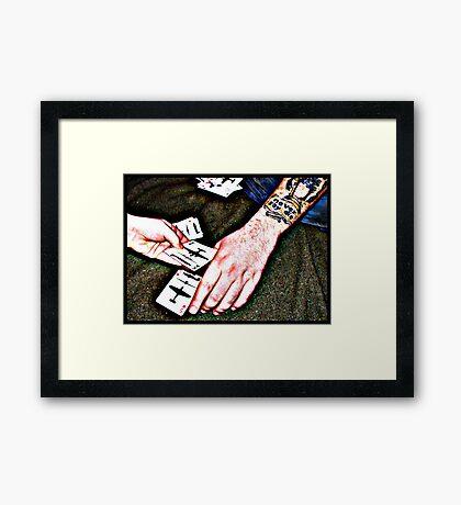 Never say die... Framed Print