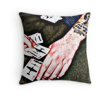 Never say die... Throw Pillow