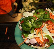 The Mongolian Restaurant Buffet the Beginning by Karen  Roberts