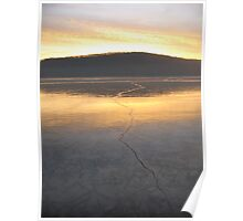 Rockland Lake Sunrise in Winter Poster