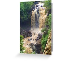 Blue Nile Falls ** Greeting Card