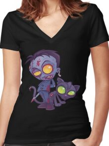 Pet Cemetery Women's Fitted V-Neck T-Shirt